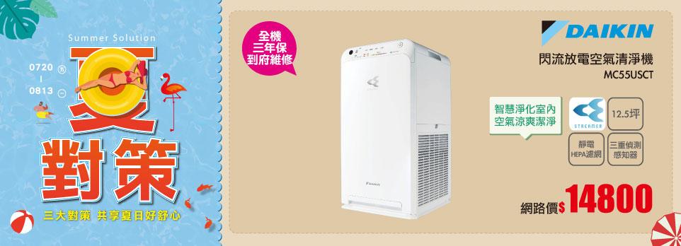 182616 DAIKIN 12.5坪閃流放電空氣清淨機