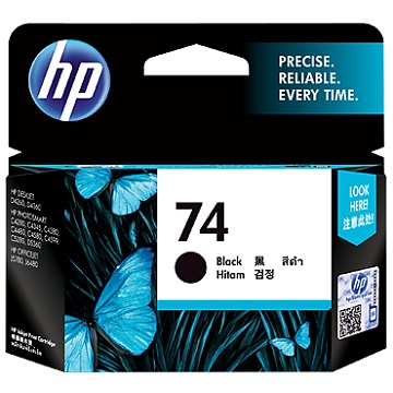 HP 74號黑色墨水匣(CB335WA)