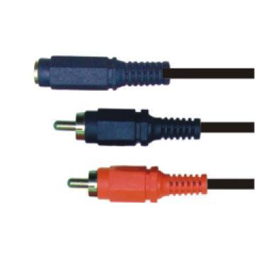 大通3.5mm立體母座轉RCA公頭*2轉接線(PAVG-305)