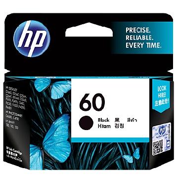 HP 60號黑色墨水匣(CC640WA)