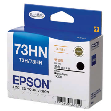 EPSON 73HN高印量黑色雙包裝(T104151)(T104151)