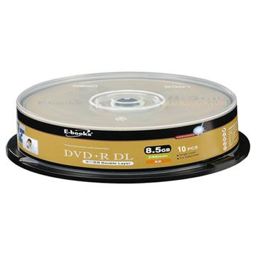 E-books 8X 8.5G DVD+R DL 10片桶裝(CMCDVD+RDL8XE02)