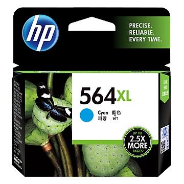 HP 564號 XL藍色墨水匣(CB323WA)