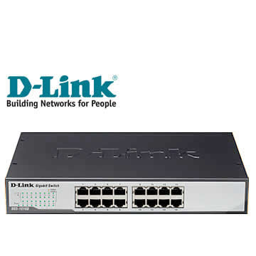 D-Link 節能交換式集線器(DGS-1016D)