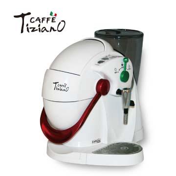 Tiziano義式高壓咖啡機(白)(TSK-1136(白))