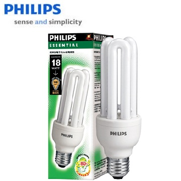 飛利浦經濟型3U18W省電燈泡(白光)(3U 18W CDL)