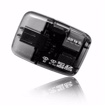 AIBO Mini透明讀卡機(時尚黑)(CARD-Y004BK)