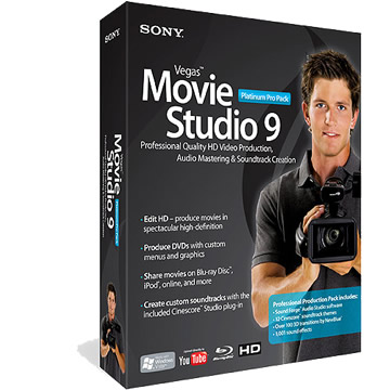 SONY Vegas Movie Studio 9 Pro Pack英文版(SPPMS9000)