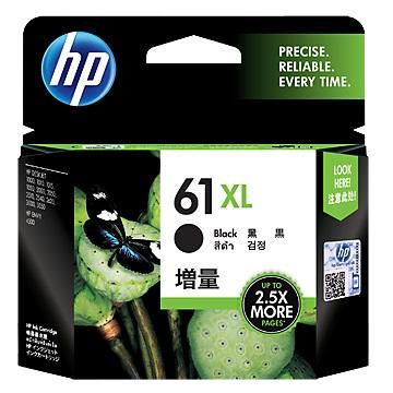 HP 61號XL黑色墨水匣(CH563WA)