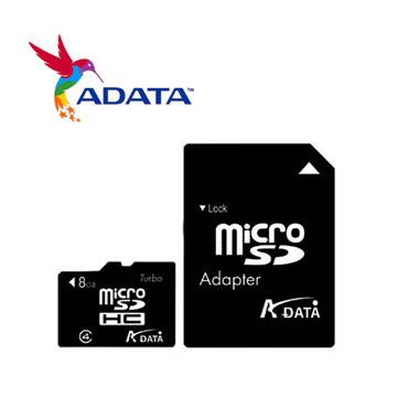 威剛 Micro SD記憶卡8B C2(AD8GTFC4)