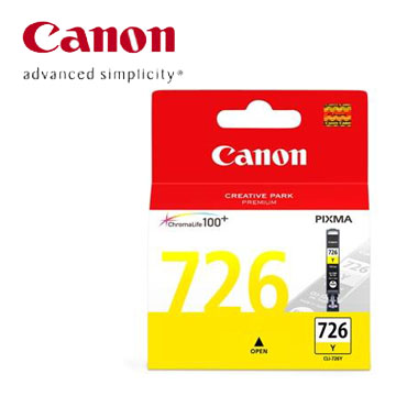CANON 726黃色墨水(CLI-726Y)