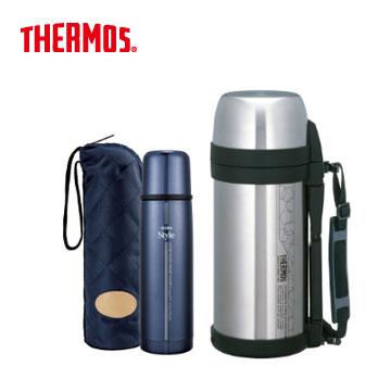 THERMOS 子彈型保溫瓶+膳魔師不銹鋼真空保溫瓶(FDW-500CF-BKP(藍))