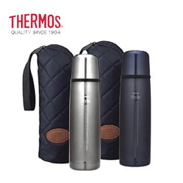 THERMOS 子彈型保溫瓶(附袋)-藍色(FDW-500CF-BKP(藍))