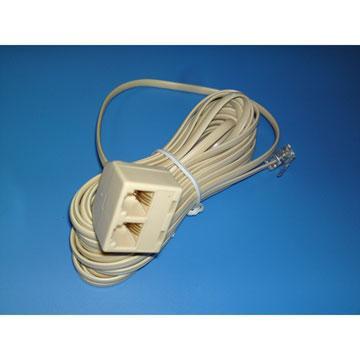 MIPA 美式4芯電話延長線(6米)CY-TA030(CY-TA030)