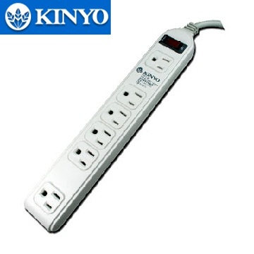 KINYO 單切6座3孔電腦專用延長線(1.8m)(KS61-06)