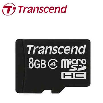 創見MicroSDHC 8GB C4記憶卡(TS8GUSDC4)