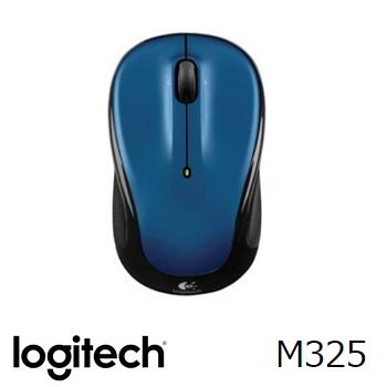 罗技 Logitech M325 无线鼠标 - 蓝(910-002389)