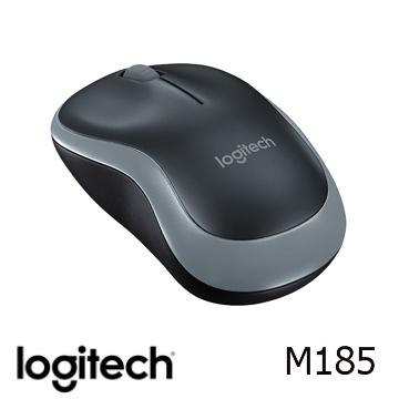 【燦坤限定】羅技無線滑鼠M185-黑灰色(910-002258)