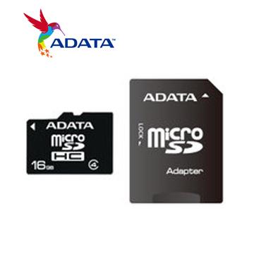 【16G】威剛 Micro SD C4記憶卡(AD16GTFC4)