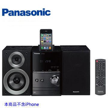 [福利品]Panasonic IPod/USB組合音響 SC-PM500-K(黑色)
