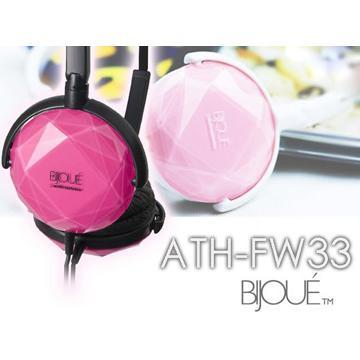 audio-technica ATH-FW33(粉紅)小頭戴式耳機(ATH-FW33(LPK))