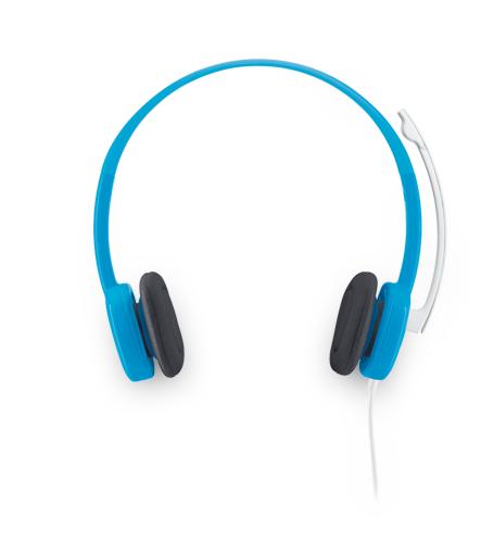 羅技 炫音H150耳機麥克風(天藍)(981-000370)