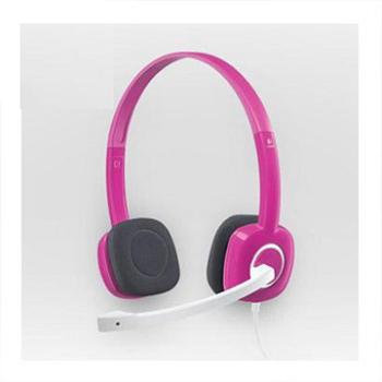 羅技 炫音H150耳機麥克風(金屬粉紅)(981-000371)