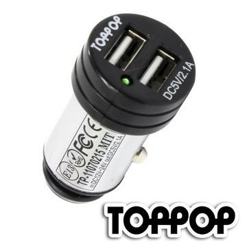TOPPOP 車用電源供應器 2 USB 2.1A(TP-11070215)