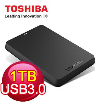 TOSHIBA 2.5吋 1TB行動硬碟(黑靚潮3.0)(HDTB110AK3BA)