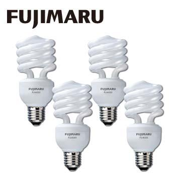 Fujimaru 23W電子式新螺旋省電燈泡3+1入(黃)(FJ-A323(黃光))