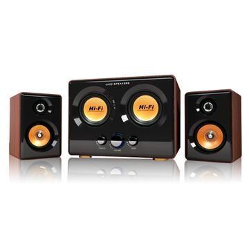 JS 震天雷-雙重低音全木質三件式多媒體喇叭(JY3240)