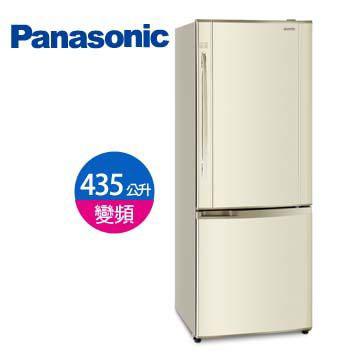 Panasonic435公升上冷藏下冷凍雙門變頻冰箱(NR-B435HV-N1(琥珀金))