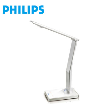 【展示機】飛利浦鈦光LED檯燈(白)(69195 ICARE/W)