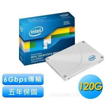 INTEL 2.5吋 120GB固態硬碟(520系列)(SSDSC2CW120)