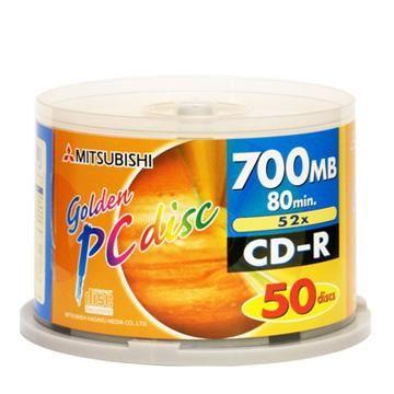 三菱 52X CD-R 新白金片 50片桶裝