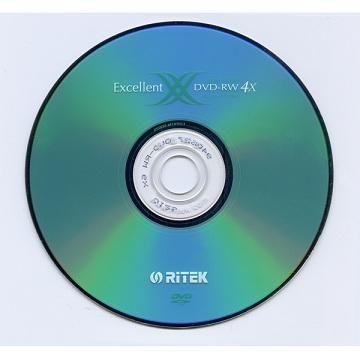 RITEK 4X DVD-RW 10片桶裝(DVD-RW 4X)