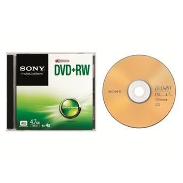 SONY 4X DVD+RW/單片盒裝