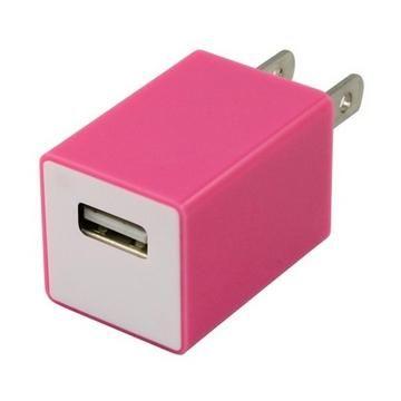 TOPPOP 方塊USB 電源轉換器-粉紅(TP-121002014)