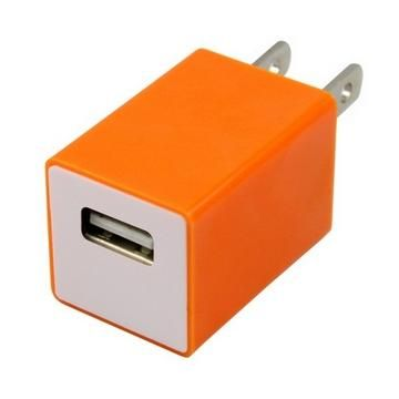 TOPPOP 方塊USB 電源轉換器-橘(TP-121002013)