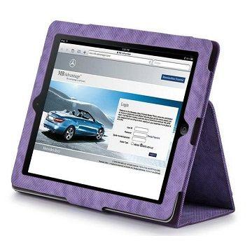 X-doria New iPad/2牛仔布紋皮套-紫/含水晶螢幕保護貼組()