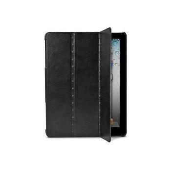 X-doria New iPad/2薄型背蓋書本式皮套-黑 /含水晶螢幕保護貼組()