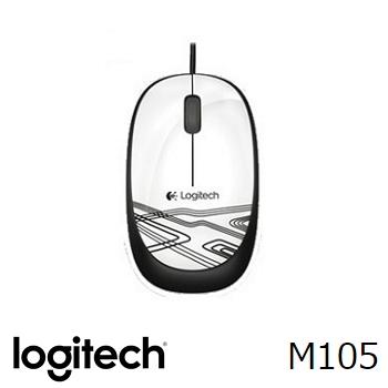 羅技 滑鼠M105(白)(910-002935)
