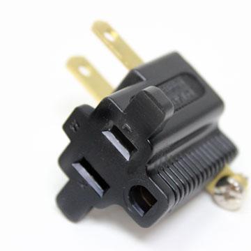 群加 3轉2 L型電源轉接插頭【1入】(PWA-G90321)