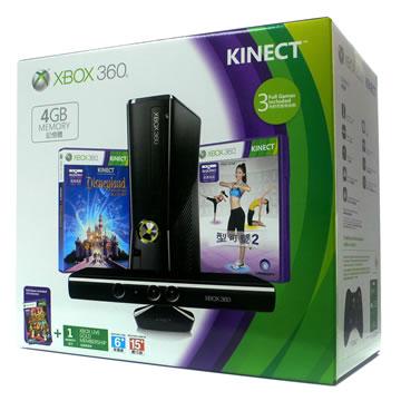XBOX360 標準版(4GB)+Kinect迪士尼同捆組(S4G-00146)