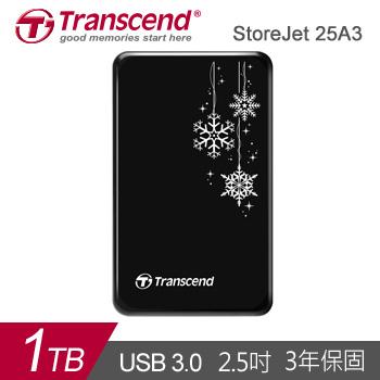【1TB】創見 StoreJet 25A3 2.5吋 行動硬碟(TS1TSJ25A3K-RU)