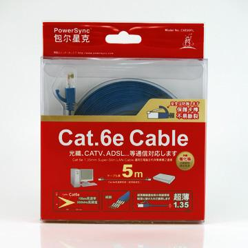 群加 C6E05FL Cat6e光纖超薄扁線-5M(C6E05FL)