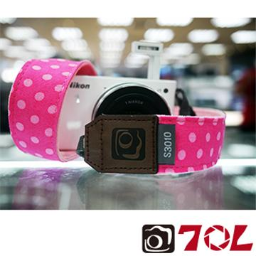 70L COLOR STRAP可愛圓點相機背帶-蜜桃紅(S3010)