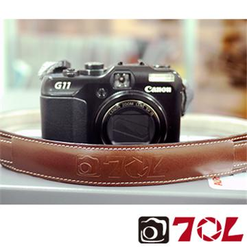 70L SL1601真皮彩色相機背帶-杏茶銀褐(SL1601杏茶銀褐)