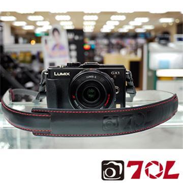 70L SL1601真皮彩色相機背帶-尊爵黑紅(SL1601尊爵黑紅)