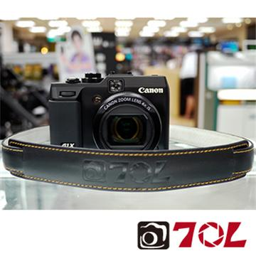 70L SL1601真皮彩色相機背帶-尊爵黑金(SL1601尊爵黑金)